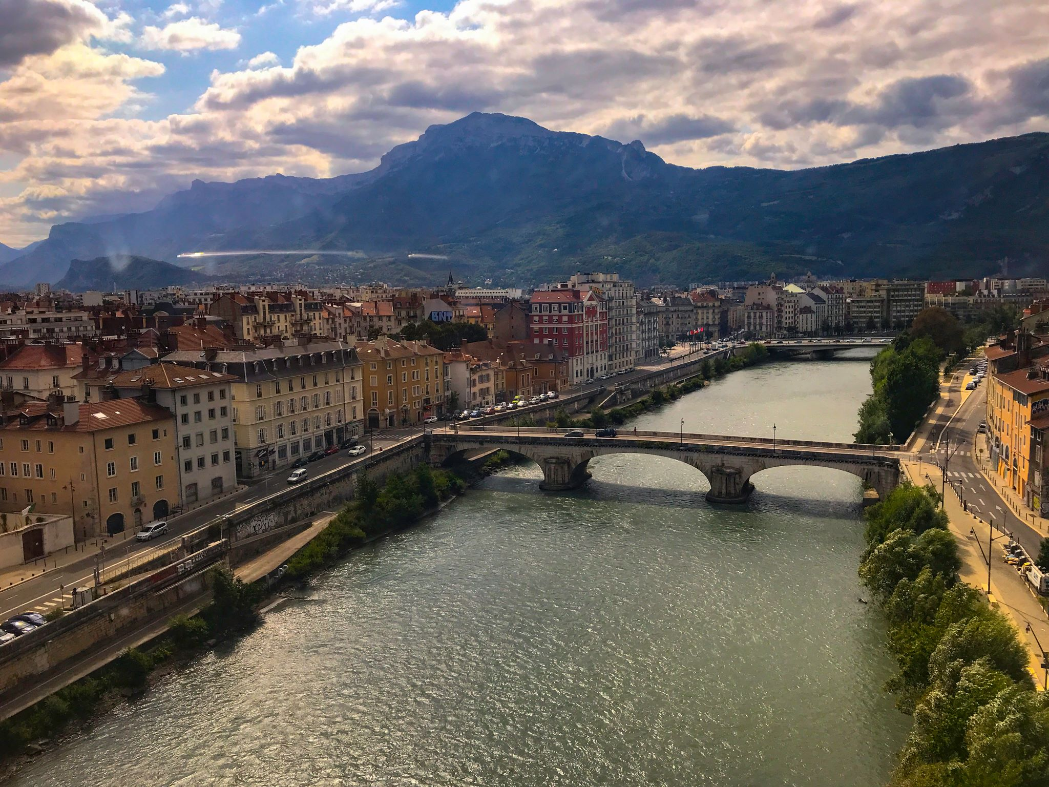 The Drac river, Grenoble