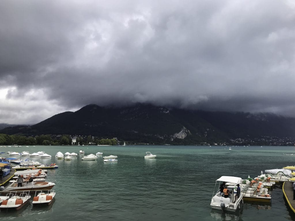 Clouds over Lake Annecy