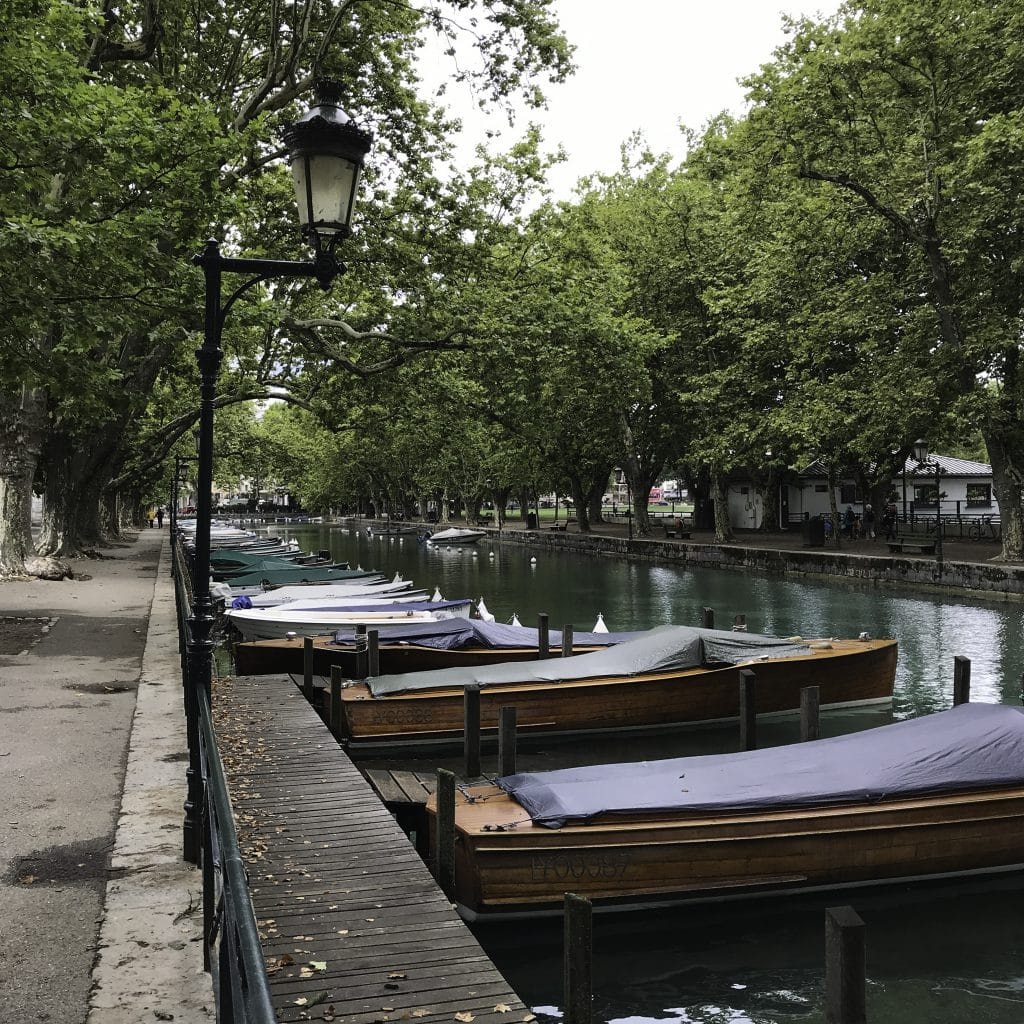 The boats of Annecy