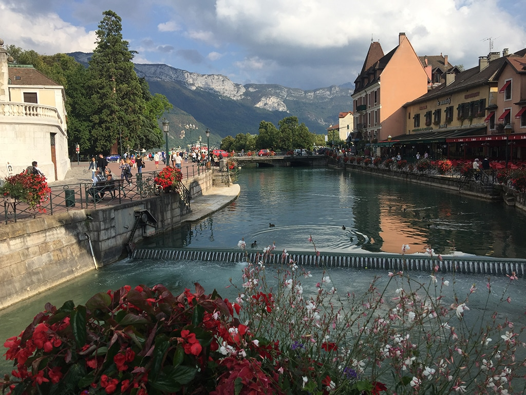 A river view from Annecy